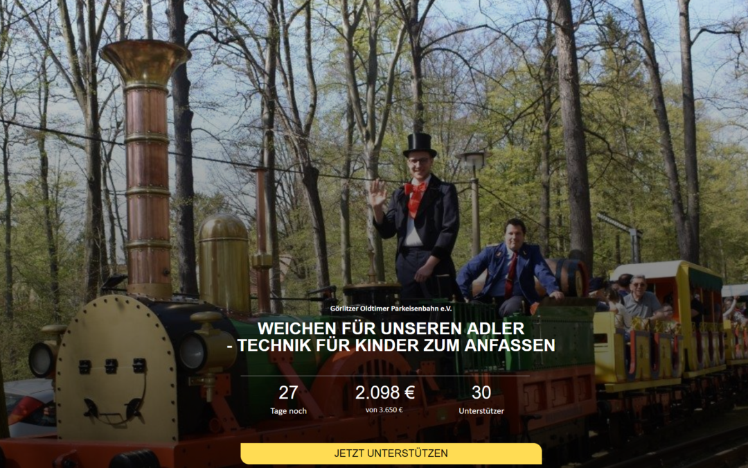 Crowdfunding Aktion der Parkeisenbahn Görlitz